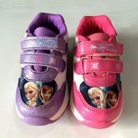 Guangzhou Baby Shoes Frozen Kid Shoe Walking Sport Shoe