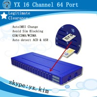 Human behavior function 16-64 voice over ip gateway with sip server