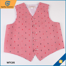 Factory Direct Sale Little MOQ 7 -10 Years Red Childs Waistcoat