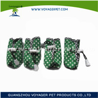 Lovoyager waterproof nylon winter dog boots with paws printed for lovely dogs