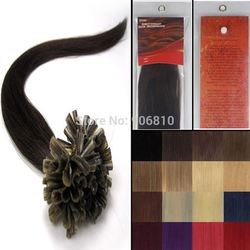 26inch 70g #2 Dark Brown Pre-Bonde U Tip Nail Tip Remy Hair Extensions Keratin Glue Straight Soft 4A Grade 100strands/set