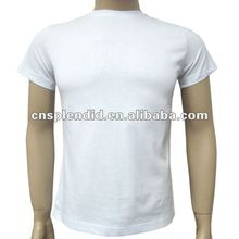 2012 trendy cottom o-neck slim fit fashion white blank t shirt