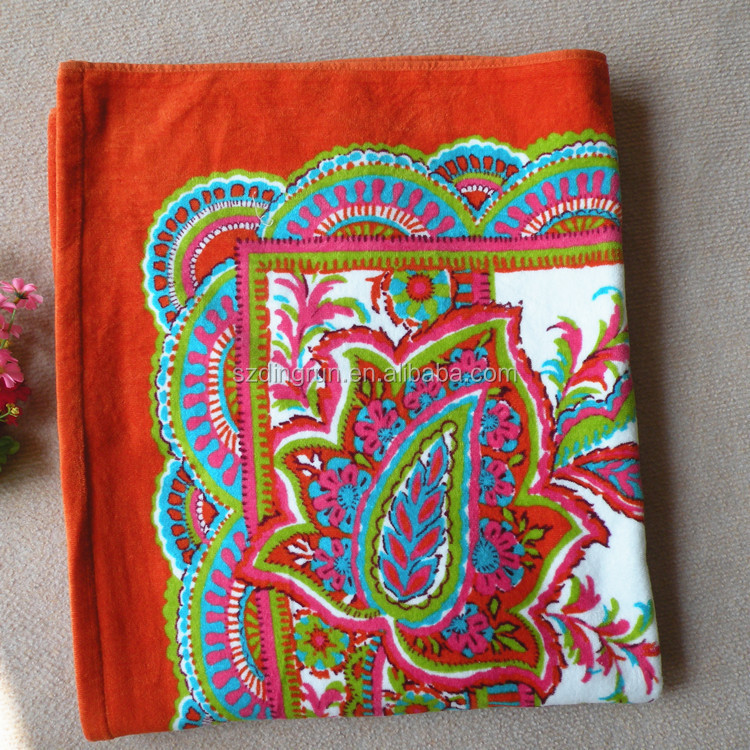 Tapis persan style serviette de plage 100% coton pour la promotion