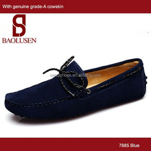 Hot sale comfortable high quality latest design cheap leather casual suede loafers