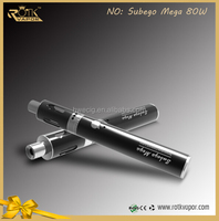 Alibaba Express Vape Pen 0.1ohm Ni200 Coil Ego Now Mod 4ml Capacity Tank Sub Ego Mega Vapor Subego Mega TC starter 80w Kit