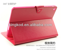Fashion stand unbreakable shock proof flip pu leather case for ipad air 2 3 4