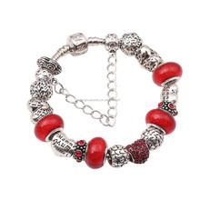 European fashion custom Charm Bracelet with colorful beads