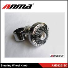Fashionable Design Silver Metal Car Universial Steering Wheel Knob