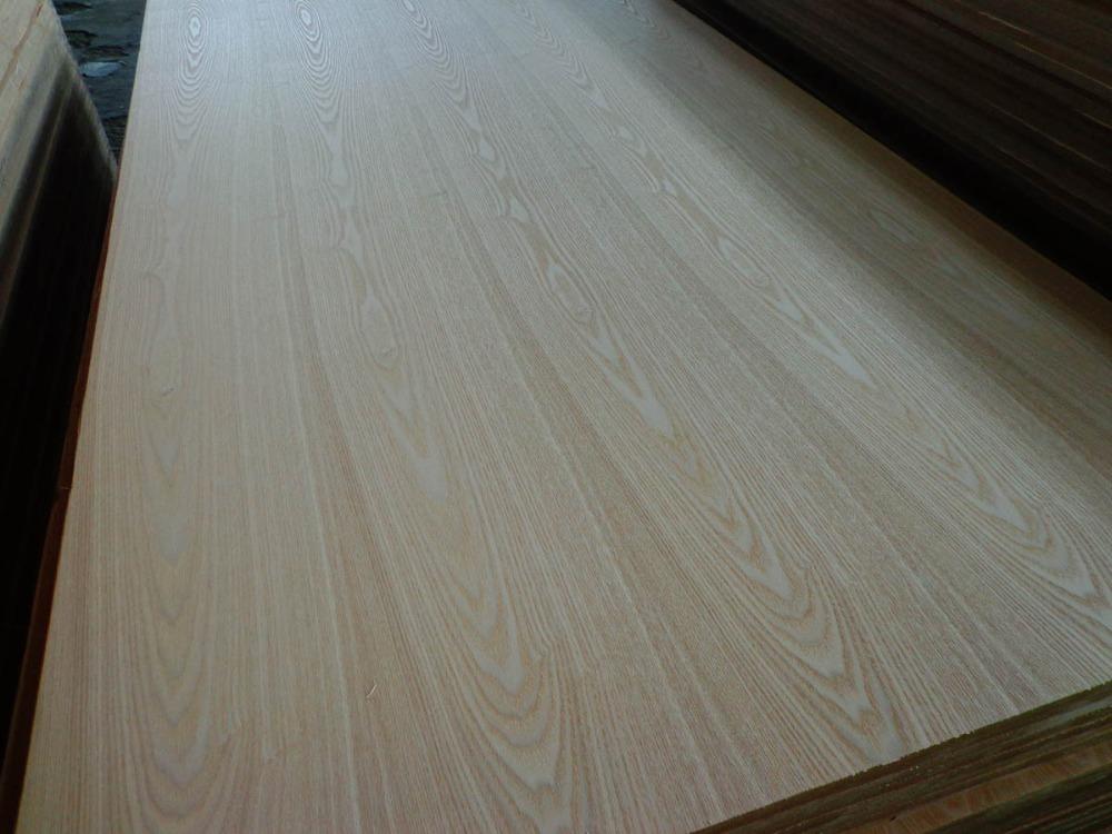 Ash Veneer Plywood ~ Nature ash veneer faced plywood flat grain white