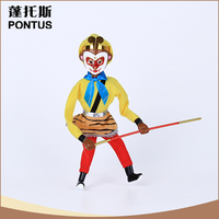 Wholesale character wooden puppet office decoration for new year
