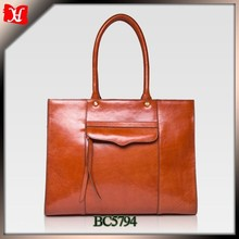 designer italy tote bag lady genuine leather hand bag wholesale woman leather bag