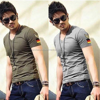 WWW Sexy Image .Com Mens Silk Shirt Mens Slim Fit V-Neck T-Shirt
