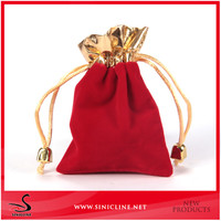 Wholesale High Quality Cheap custom velvet drawstring pouch bag /Santa Sack Bag With Drawstring For Christmas Presents