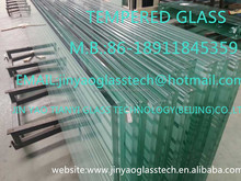 2015 BEIJING CHINA factory price new style high quality building decorative clear 12MM tempered glass