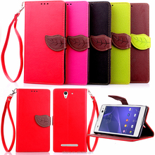 For sony xperia C3 Case China Supplier Wallet Design Cover Pu Leather Mobile Phone Cases For sony xperia C3 Cell Phone Case