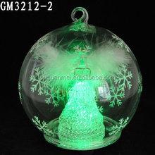 2015 wholesale Xmas fashion and lovely led ball hanging for christmas decoration