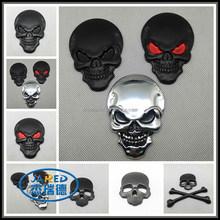 3D skull head car emblem,skull metal badge