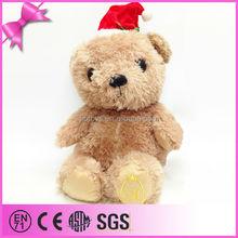 Soft Christmas bear custom plush toy for kids