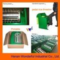 1000kg fábrica / h pedal portátil trilladora de arroz