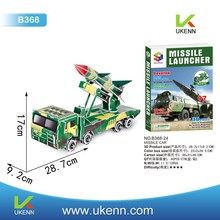 Fun creation 3D puzzle toy missile truck 3D models kids handwork diy toy