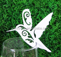 Cheap bird design seat place card for wine glass wedding party table decorations