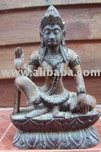 Pra Vishnu wood carving