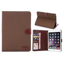 Factory supply PU leather tablet pc case for Ipad mini case cover with card holder