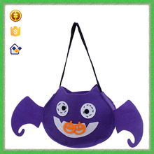 YTF-P-GWD095 Fashion Design Blue Bat Bag Non-woven Horrific Animal Shopping Bag For Hallowmas Evening