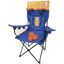 Foot King Pin Big Folding Camping Beach Chair With Basketball Kingpin Chair