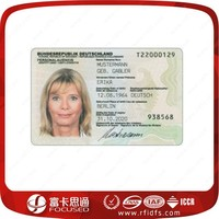 Low cost custom passive student / employee id card with serial numbers
