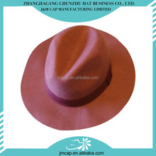 China manufacture plain design custom winter warm men's felt fedora