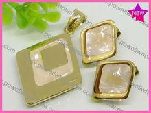 moda forma de diamante africano conjunto de joyas de oro 18k bisuteria plateado libre de envío de paypal
