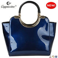 alibaba china supplier hot new products for Patent Faux Leather tote bag