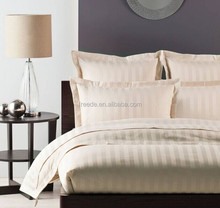 600Thread count 100% percale cotton sateen stripe plain dyed fabric for hotel bedding linen sheets