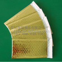 Customized Gold Bubble Mailer, Metallic colored padded envelopes