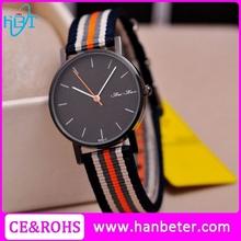 Plain design ladies watch woven strap accept custom nato watch straps for unisex
