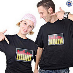 180GSM summer top fashion programmable led t shirt