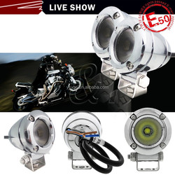 Y&Thot selling Motorcycle LED Round Tail Light For Harley, Turn Signal Lamp 10V 10W chrome