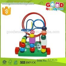 Continuación caliente venta bolas rodantes laberinto OEM de madera niños coloridos juguetes laberinto EZ3020