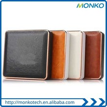 Male Cigarette Case and Power Supply Leather High Capacity USB Mobile Charger
