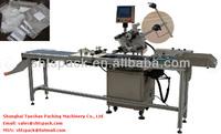 TS 210D automatic plastic bag flat labeling machine