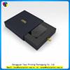Customized printed cardboard box 1-layer sbb black paper gift box