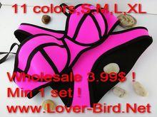 2015 triangl swimwear bikini Superfly Swimsuit zipper top neon Bottoms Neoprene bikini Swimwear For Women summer dress-BJN002B