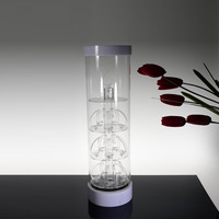 Retail Rotating Glass Watch Display Cabinet/shop Lockable Perspex Display Cabinet/acrylic Wood Rotating Display Rack
