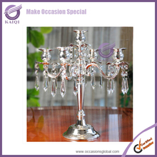 K7155 crystal candle holders wedding table decorations
