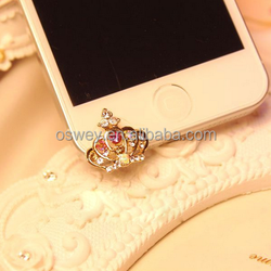 Crown Princess Cell Phone Anti Dust Plug for Cell Phone