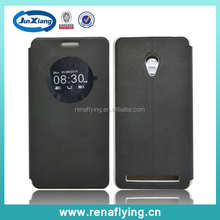 chinese cell covers black leather phone case for asus zenfone 6