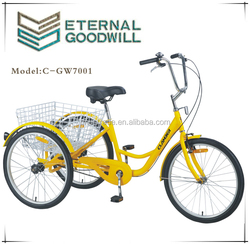 2015 HOT SALE ADULT SINGLE SPEED TRICYCLE C-CGW7001