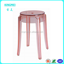 Kingmei custom high quality nice pink acrylic bar chair bar stool chair supplier