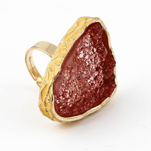 Alibaba Hot sale Alloy Ring with Resin Stone